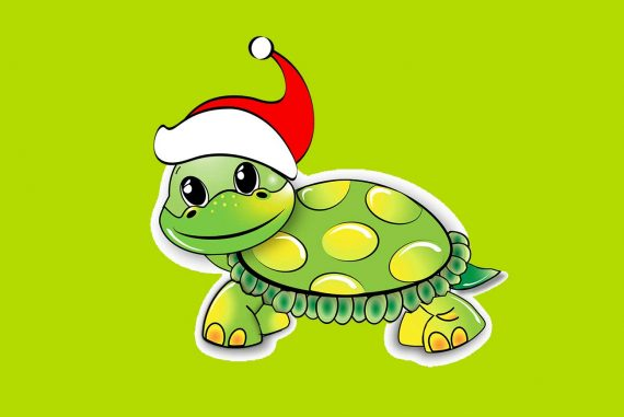 Cover illustration for short story for kids Do Turtles Have Christmas