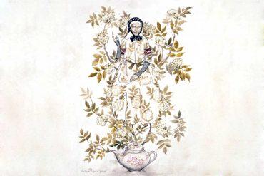 Fairy tales Hans Christian Andersen Elder Tree Mother illustration