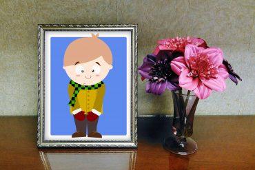 Funny Poems for Kids Camera Shy Illustration