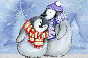 Illustration for kids poem Christmas Wishes