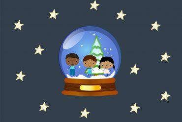 Poems for Kids Christmas Elves Bedtime Story header illustration