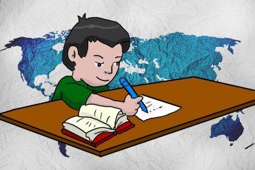 Poems for Kids Homework Land illustration