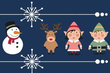 Poems for kids illustration for Christmas poem Little Carollers