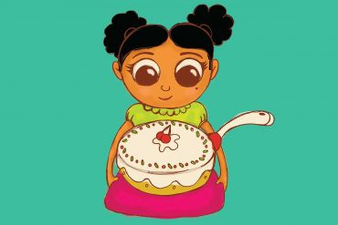 Bedtime stories The Great Cake Contest illustration
