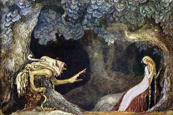 Fairy Tales the Princesses and the Blue Mountain illustration by John Bauer