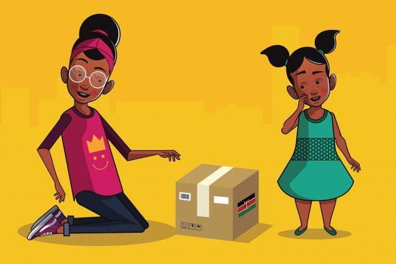 Bedtime Stories Aunty Boi's Gift stories for kids header illustration