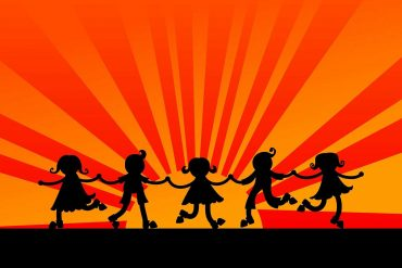 Poems for kids ring o rosie illustration