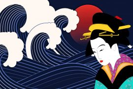 Japanese fairy tales The Stones of Five Colours and the Empress Jokwa bedtime stories