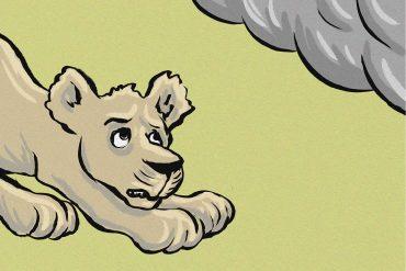 Bedtime stories Lions Are Always Brave stories for kids header illustration