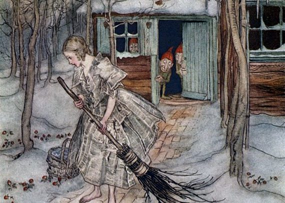 Fairy Tales The Three Dwarves Grimm Brothers Illustration