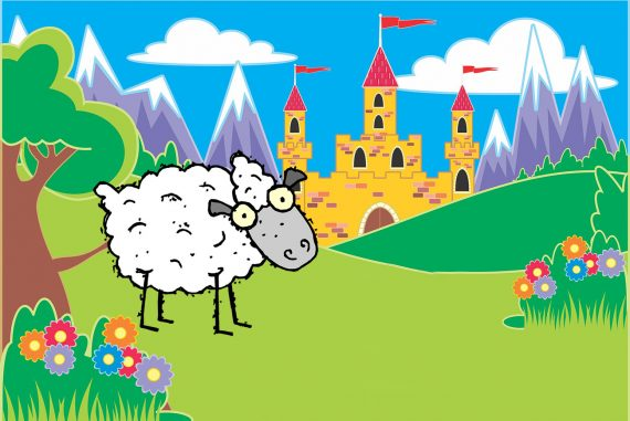 Fairy Tales The Wonderful Sheep illustration