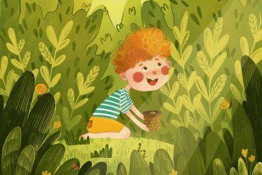 Bedtime stories The Little Peach Who Spoke Italian header
