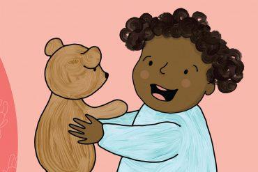 bedtime stories baby babble header illustration