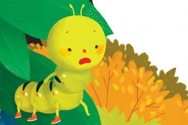 bedtime stories caterpillar looks for a shoe kids tales header illustration