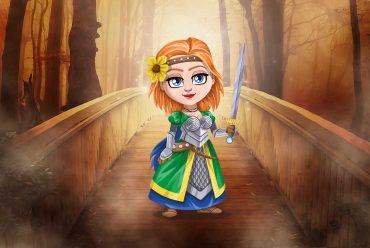 Fairy tales The Elfin Knight Halloween stories for kids illustration