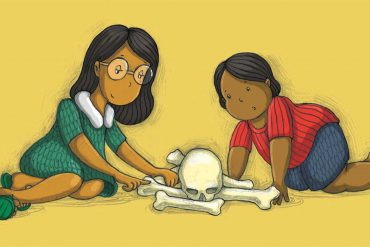 bedtime stories The Bone Puzzle short stories for kids header illustration