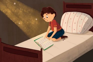 Bedtime story The Little Lie header illustration