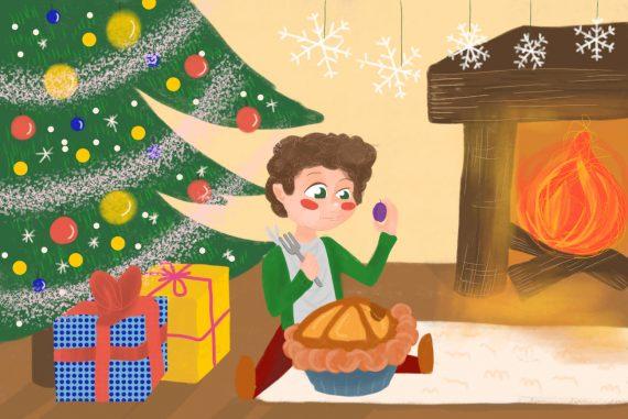 Nursery rhymes Little Jack Horner poems for kids illustration 1