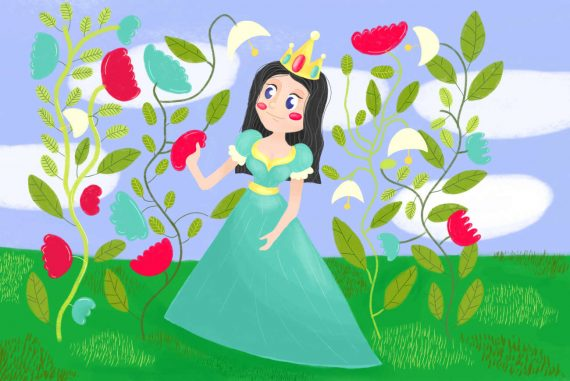 Nursery rhymes Mistress Mary Quite Contrary poems for kids and kids songs