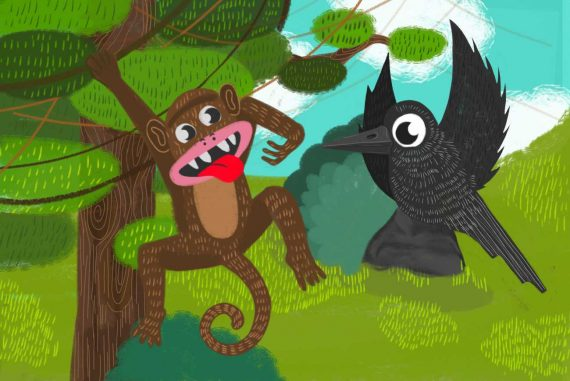 Nursery rhymes There Was A Monkey Climbed a Tree kids songs