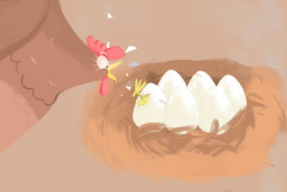 Bedtime Stories Busy Mother Hen Free Books Online header illustration