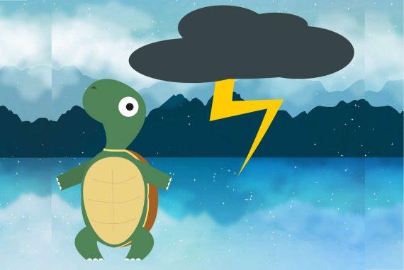bedtime stories illustration for Turtle tale short stories for kids