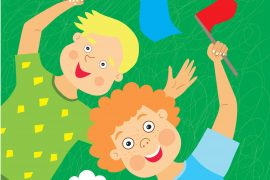 Free phonics books for kids Jake and Jane Run a Race bedtime stories header