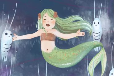 Bedtime stories Tiny Mermaid short stories for kids about environment header