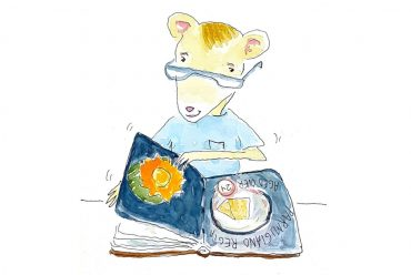 Bedtime stories Mouse Reads a Book free kids books header