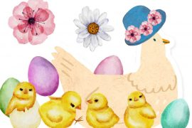 Bedtime stories Mama Chicks New Easter Hat free kids books online header